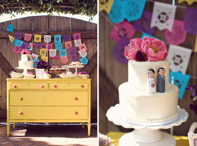 The everadorable painted furniture cake table I want want want this