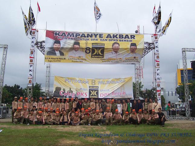 Kampanye Akbar PKS di LapanganSriwijaya Palembang