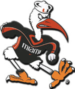 Sebastian the Ibis, the Spirited Mascot of the University of Miami Hurricanes