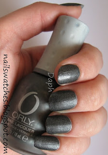 orly iron butterfly matte black shimmer nailpolish glam rock collection 2010 nailswatches