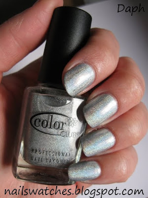 color club worth the risque risk silver holographic wild at heart nail polish collection femme fatale  nailswatches