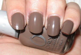 Orly Prince Charming brown taupe nail polish creme nailswatches once upon a time fall 2009