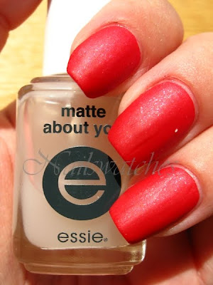 zoya nidhi red nail polish sparkle collection 2010 sparkles matte mattified essie matte about you