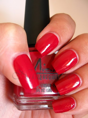 misa cherry glazed nail polish swatch weartest