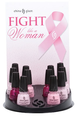 china glaze fight like a woman breast cancer awareness collection pink collection
