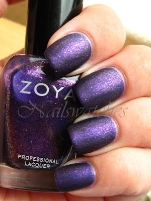 zoya mimi sparkle collection purple glass flecked nailswatches nailpolish swatch