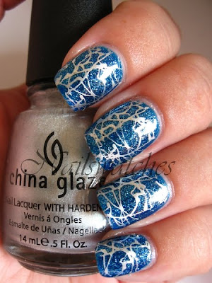 china glaze dorothy who wizard of ooh ahz returns blue jelly glitter nailpolish nailswatches swatch 2009 konadicure konad imageplate m70 silver millennium stamping