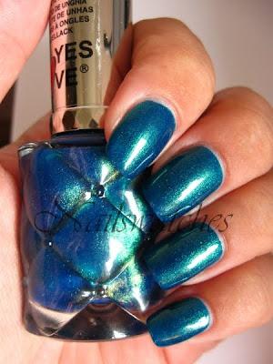 yes love 429 nailpolish mermaid color shimmer blue green nailpolish nails nailswatches