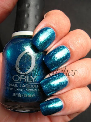 orly cosmic FX cosmix collection for fall winter 2010 glass flecked foil like nailswatches haileys comet blue green mermaid green nails dupe charla zoya catch me in your net opi