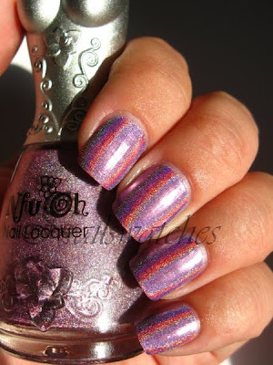nfu oh 064 64 lilac lavender dusty pink purple holo holographic nail polish nailswatches