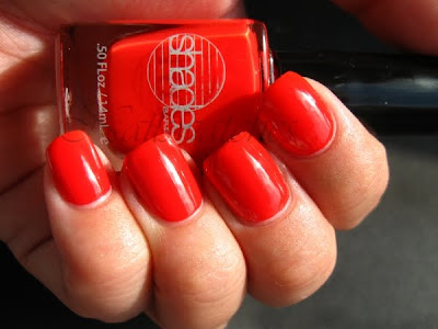 barielle suntini coral orange jelly nail polish nailswatches