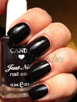 Hard candy rumor mill plum dark creme jelly shiny nail polish nailswatches blackened almost black