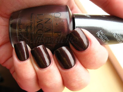 opi espresso your style brown nail polish shimmer nailswatches
