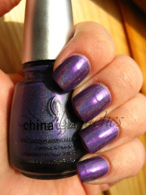 china glaze lol omg collection 2009 holographic purple nail polish nailswatches