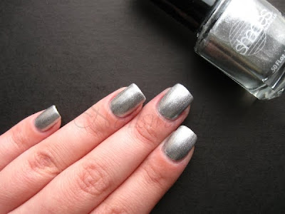 barielle night moves silver foil nail polish nailswatches