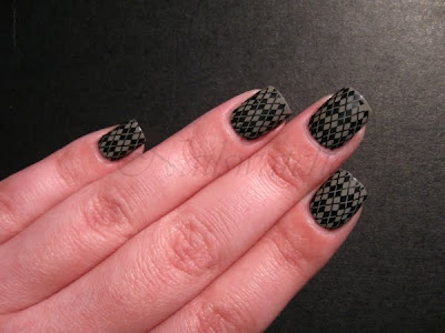 konadicure m60 stamping catrice absolutely chinchilly! wet n wild black creme nail polish nailswatches