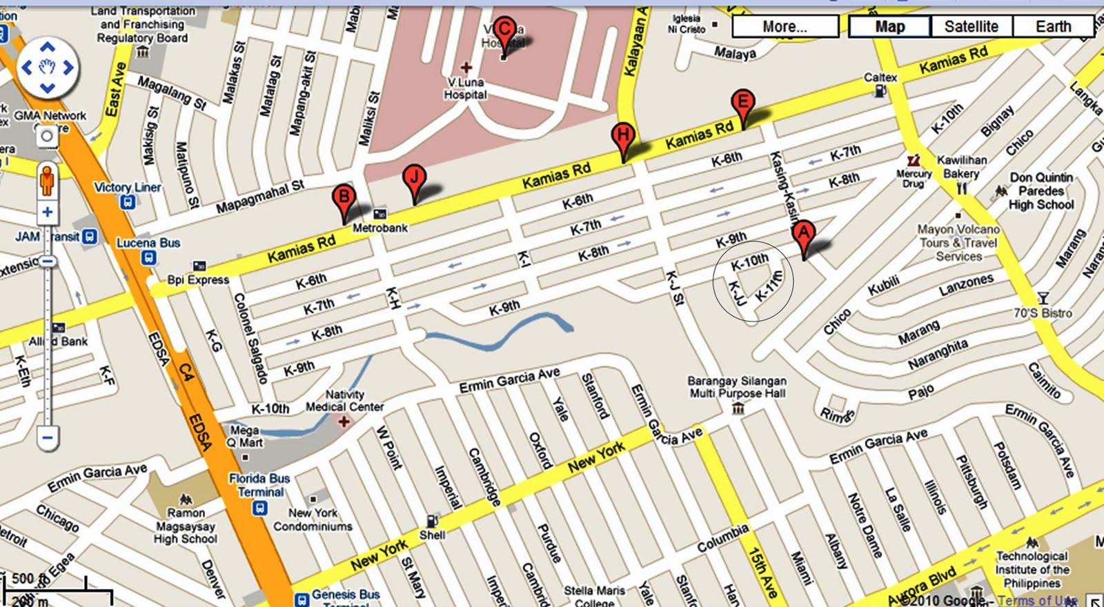 Location Map in Kamias  Tiara Vista Kamias Quezon City