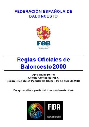 LIBRO DE: Reglamento de Baloncesto FEB.