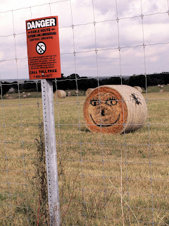 Halloween haystack outside Johnson City, Texas