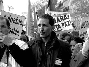 En una manifestación en pro del pueblo Saharaui.