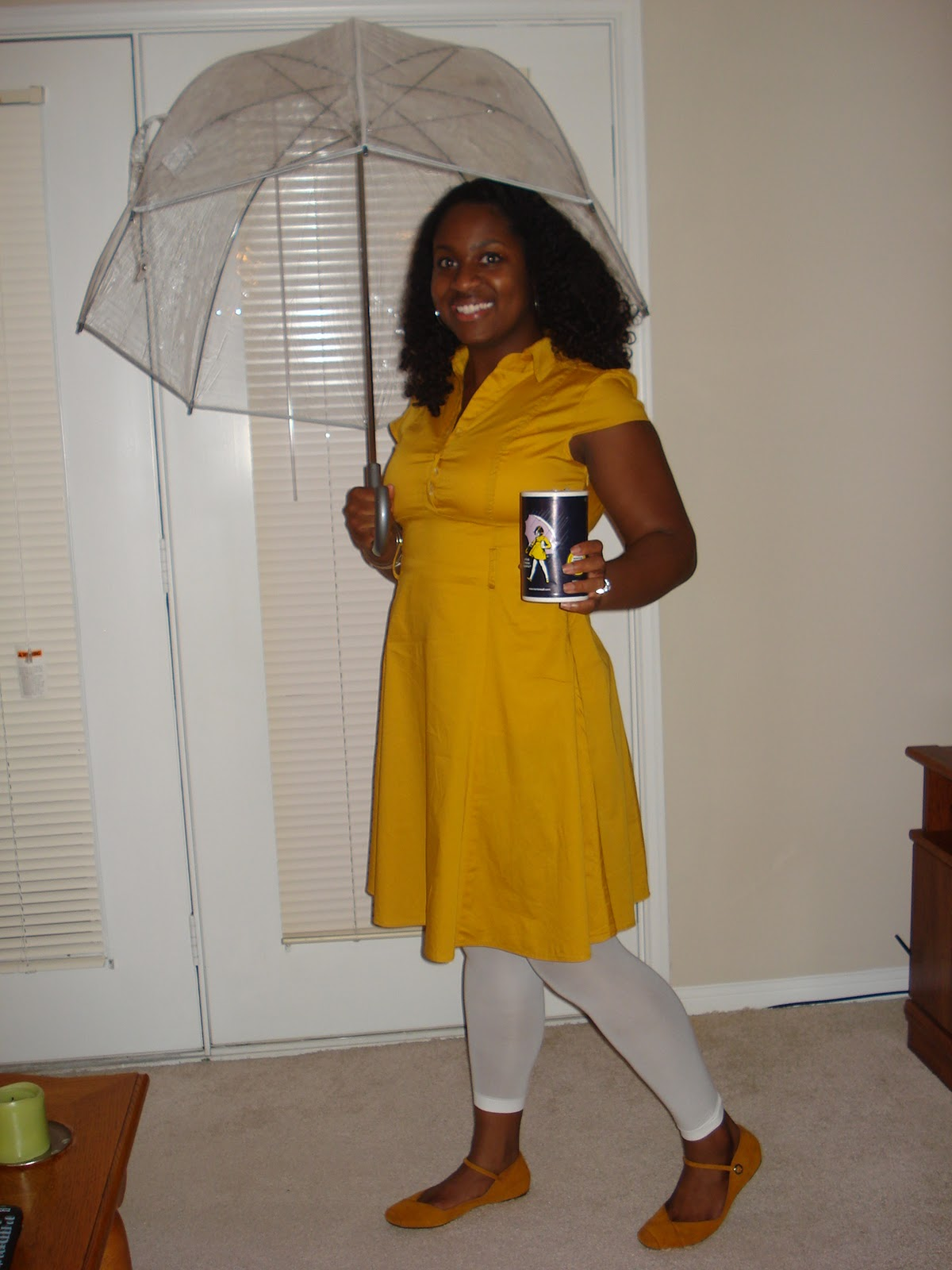 So today I put on a yellow dress yellow shoes and white tights and grabbed an umbrella and transformed into the Mortonu0027s Salt Girl. & Playing Dress Up | Soul In Stereo