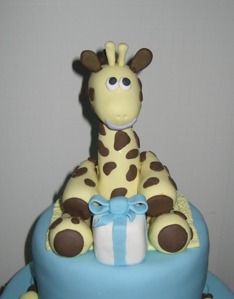 Bouncing Baby Boy Shower Cake