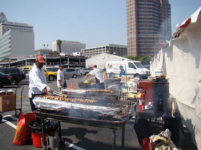 Chefs barbecue food at Japanese at the Nesei Festival