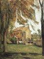 Castaños y factoría en el Jas de Bouffan (hacia 1884) - Paul Cézanne (45)