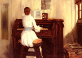Mrs Meigs At The Piano Organ (1883) - William Merritt Chase (34)
