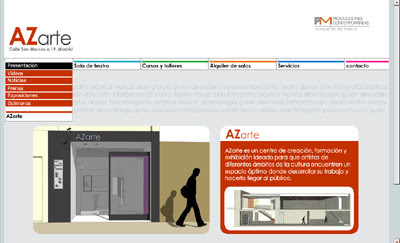 ver web de la escuela de artes AZarte
