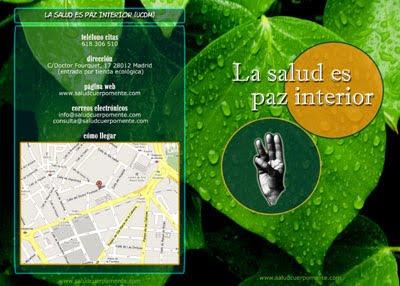 diseño de folleto Salud Cuerpo Mente, Cara A (ver)