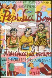 cartel de Pepi, Luci, Bom y otras chicas del montón (film de Pedro Almodóvar)
