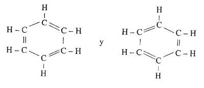 estructura molecular del beceno por August Kekulé von Stradonitz