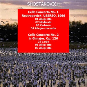 Carátula desarrollada por pepeworks: conciertos para cello de D. Shostakovich