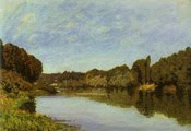 Alfred Sisley - The Seine at Bougival (1873)