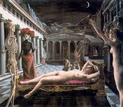 La Venus dormida (1944) de Paul Delvaux