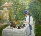 Childe Hassam (51) - French Tea Garden (Jardín de té francés), 1910