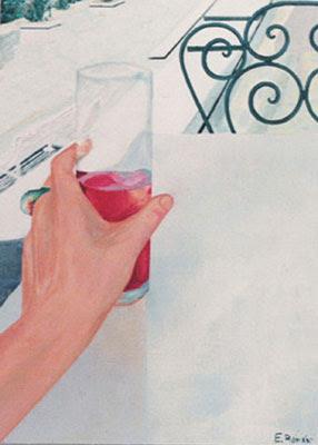 Un tinto de verano: obra de la pintora Eva Román