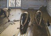Gustave Caillebotte (27 años) - obra: Los acuchilladores de parqué (1875)