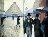 Gustave Caillebotte (29) - Calle de París, día lluvioso (obra de 1877)