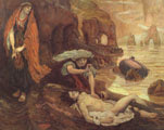 Ford Madox Brown (57 años) - Don Juan discovered by Haydée (pintura, 1878)