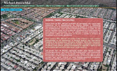 ver página web de Michael Janoschka: investigaciones científicas y proyectos sobre geografía urbana y procesos migratorios