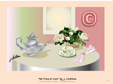"""Tea Time"" at dusk by J. Chatham"