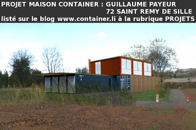 maison container projet plan construction francais maison container guillaume payeur 72 saint. Black Bedroom Furniture Sets. Home Design Ideas