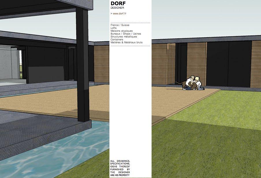 Dorf fr designer d53 saillies de lattis et lignes tendues for Maison container 64