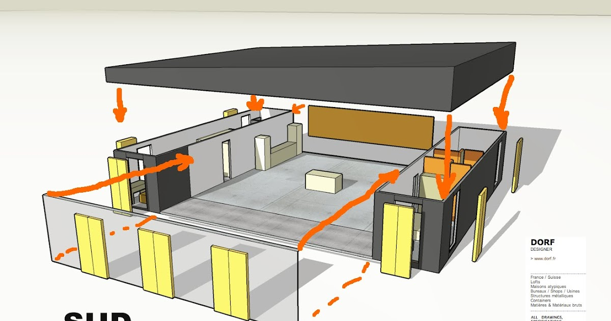 Plan maison 100m2 4 chambres for Plan maison container 100m2
