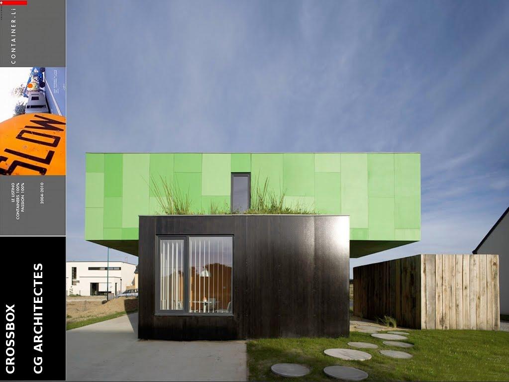 Cg architectes crossbox for Maison conteneur estaque