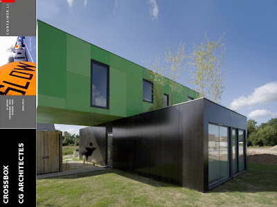 Cg architectes crossbox for Maison container france