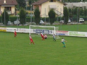 Il secondo goal, ad opera dell'Airone.