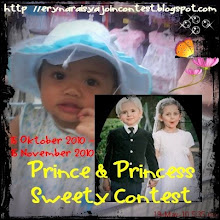 MamaRaisya 1st Contest: Prince & Princess Sweety Contest